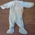 Carter's baby boy or girl yellow stripe long sleeve sleepwear/outfit 3-6 mos