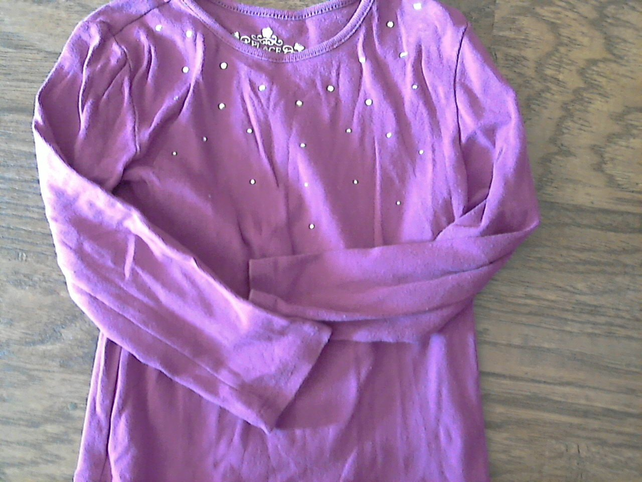 The Children's Place girl's purple long sleeve shirt 4T
