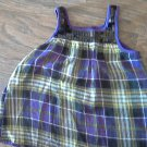 4T girl's purple plaid sleeveless top