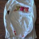 Gymboree girl's white long sleeve shirt 4T