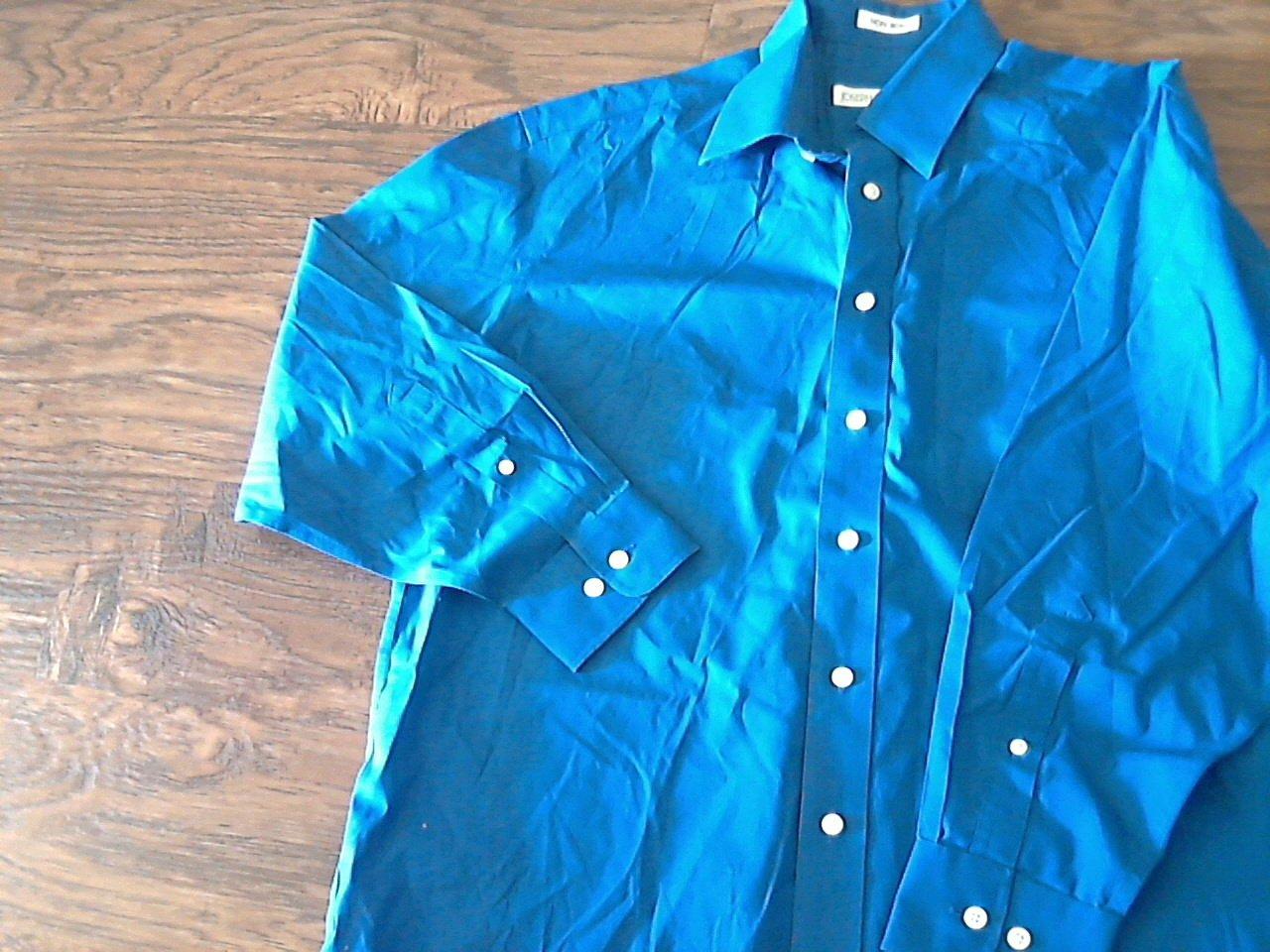 Joseph feiss man 39 s blue long sleeve causal shirt size 32 33 for Joseph feiss non iron dress shirt