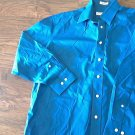 Joseph & Feiss man's blue long sleeve causal shirt size 32/33