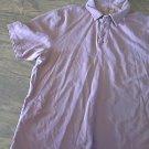 Izod Jeans man's purple short sleeve shirt size Large