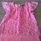 Hart Street girl's pink floral short sleeve shirt 4T