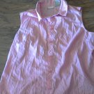 White Stag woman's pink plaids sleeveless shirt XL (16-18)