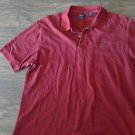Izod man's red short sleeve causal shirt size Large