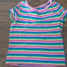 Circo girl's yellow,blue,red striped short sleeve top size 4T