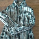 Man's black striped long sleeve shirt size Medium