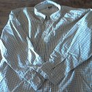 Man's brown and gray plaids long sleeve causal shirt size XXL