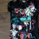 Girl's black short sleeve top size Medium (10-12)