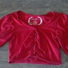 Derek & Heart girl's red long sleeve jacket size Small (6-8)