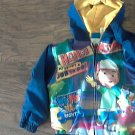 Disney toddler boys navy hooded jacket size 4T