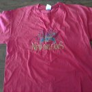 Gildan woman's hot pink short sleeve T shirt size Large