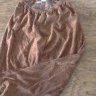 Woman's chocolate suede elastic waist pant size small