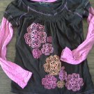 Cherokee girl's brown long sleeve shirt size M