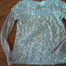 Faded Glory girl's blue long sleeve shirt size 8