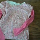 Faded Glory girl's pink stars long sleeve shirt size 8