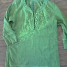Faded Glory girl's green long sleeve shirt size M (7-8)