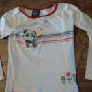 Faded Glory girl's white long sleeve shirt size 7-8