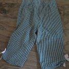 Bonnie Jean girl's black plaids elastic waist pant size 4T