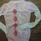 Cherokee girl's pink long sleeve sweater size M (7-8)