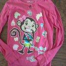 Joe Boxer girl's hot pink long sleeve shirt size 8
