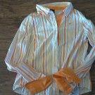 Southpole girl's orange stripe long sleeve shirt size XXL