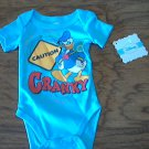 New Disney baby boy or girl blue short sleeve bodysuit 0-3 mos