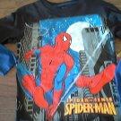 Spiderman boy's black long sleeve shirt size 7