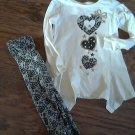 Healthtex girl's vanilla long sleeve shirt legging set size 4T