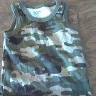 Garanimals baby boy's green camo sleeveless top size 18 mos
