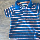 Garanimals baby boy's navy and orange striped short sleeve shirt size 18 mos