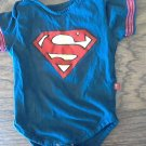 Superman baby boy's navy short sleeve bodysuit size 18 mos