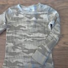 Boy's green camo long sleeve shirt size M (8-10)