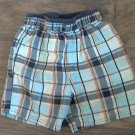 Okie Dokie baby boy's blue, black, orange plaids short size 2T