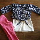 George toddler girl's blue daisy half sleeve top pant set 4t-5t