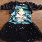 Disney toddler girl's Cinderlla black half sleeve dress 4t-5t