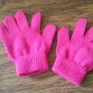Toddler girl's hot pink glove size one size