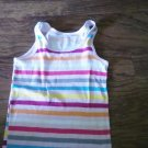 Old Navy girl's white,purple, yellow striped tank size Med (8)