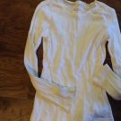 Girls white long sleeve shirt size Large