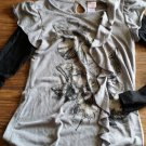 Ransom Girl's gray and black long sleeve shirt size XL