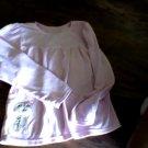 Carter's girl's pink long sleeve shirt sleepwear size 12