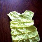 Faded Glory girl's lime short sleeves top size 4t/5t