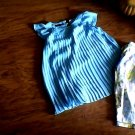 George girl's light blue sleeveless top pant set 4t-5t