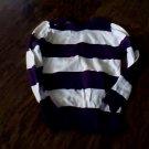 Jordache girls purple stripe long sleeve shirt xs (4t-5t)