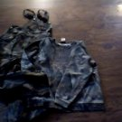 Outfitters Ridge girls green camo outfit set size L (10-12)