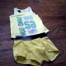 Dankskin Now toddler girl's yellow tee and bandwrist running short size 4t-5t