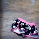 OP toddler girl's black skulls crossbone boardshort  size 4t-5t