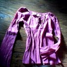 Girl's purple long sleeve top size Large (10/12)