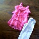 Amy Byer girl's pink sleeveless ruffle top legging  size 5t